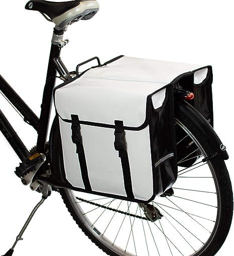 BikyBag - Doble Alforjas para Bicicletas Impermeables (Blancas): Amazon.es: Deportes y aire libre