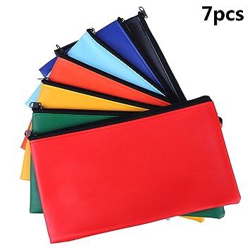 Amazon.com: Bolsa de dinero de 7 colores con cierre de ...