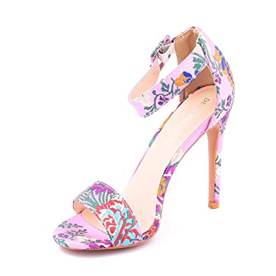 d03ea4aa9 Dech Barrouci Embroidered Pink Sandals Stiletto High Heels Comfortable Fit Ladies  Sandals Girls Sandals Heels Party Wear Classy Attractive Elegant Look Hot  ...