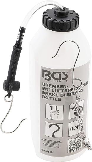 Bgs 8519 Bremsenentlüfterflasche 1 L Bremsflüssigkeits Auffangflasche Bremsflüssigkeit Bremsenentlüfter Auto