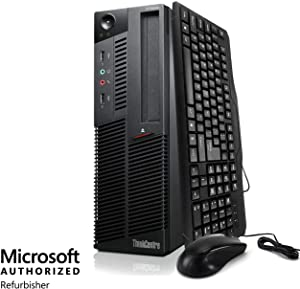 Lenovo ThinkCentre M91P Desktop - Intel i5 3.1GHz Quad Core, 4GB DDR3, 500GB Hard Drive, Windows 10 Professional 64-Bit, DVD-RW, WiFi (Renewed)