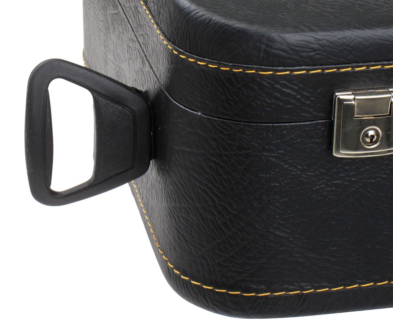 color negro Maleta con ruedas acorde/ón 120 bajos Alpenklang 22841