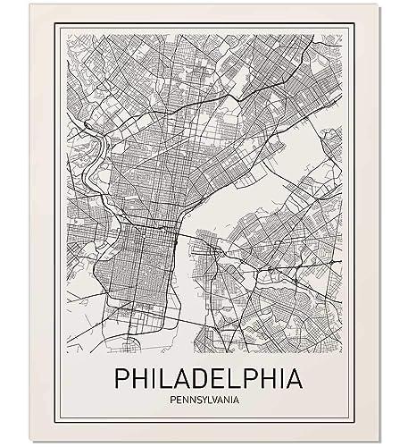 Philadelphia Map Print, City Maps, City Map Poster, Philadelphia Poster, US  City Map, Map Print, Map Art Print, Black and White, Map Wall Art, Map ...