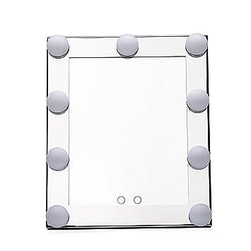mufly espejo tocador grande con 9 grandes LED bombillas: Amazon.es: Hogar
