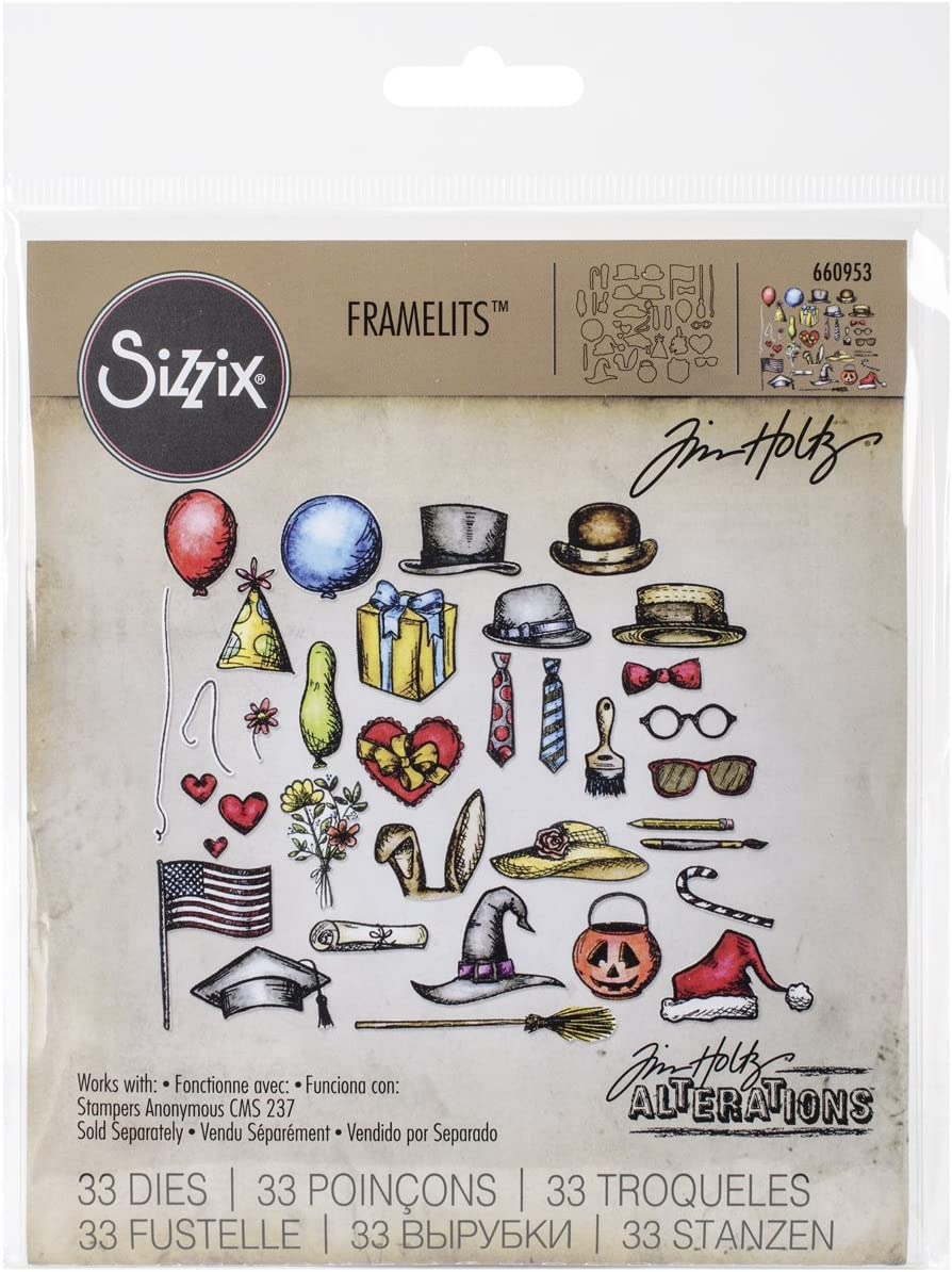 Sizzix 660953 Crazy Things Framelits Dies by Tim Holtz