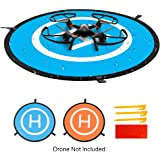 """Drone Landing Pad, Simtoo 29.5""""/75cm Large Universal Launch Pad, Fast-fold Portable Quadcopter Landing Mat Double Sided Protective Helipad for RC Drones Helicopter UVAs"""