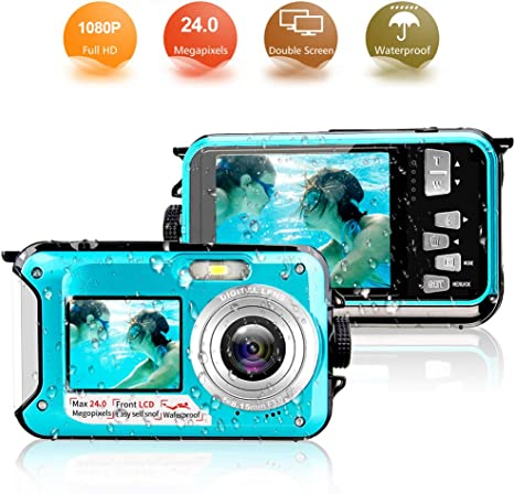 Camera Acuatica Sumergible 24MP Cameras Acuaticas Full HD 1080P ...