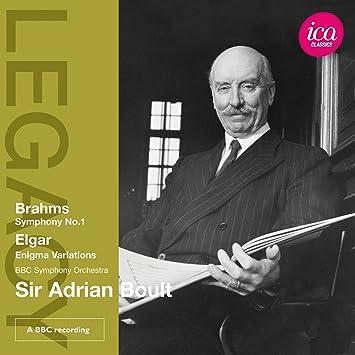 エイドリアン・ボールト - ブラームス:交響曲第1番ハ短調 Op.68/エルガー:創作主題による変奏曲「エニグマ」Op.363
