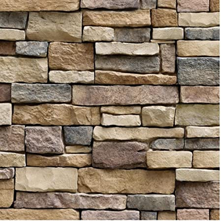 Wall Paper Spritumn 3D Brick Stone Wallpaper Realistic Rustic Effect Self Adhesive PVC