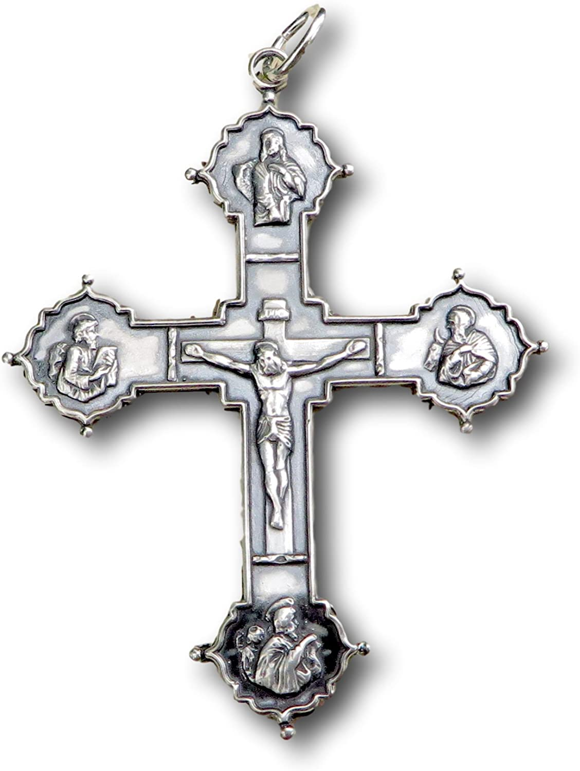 Sterling Silver Recommended Apostle's Crucifix Free Shipping New Rep - Antique