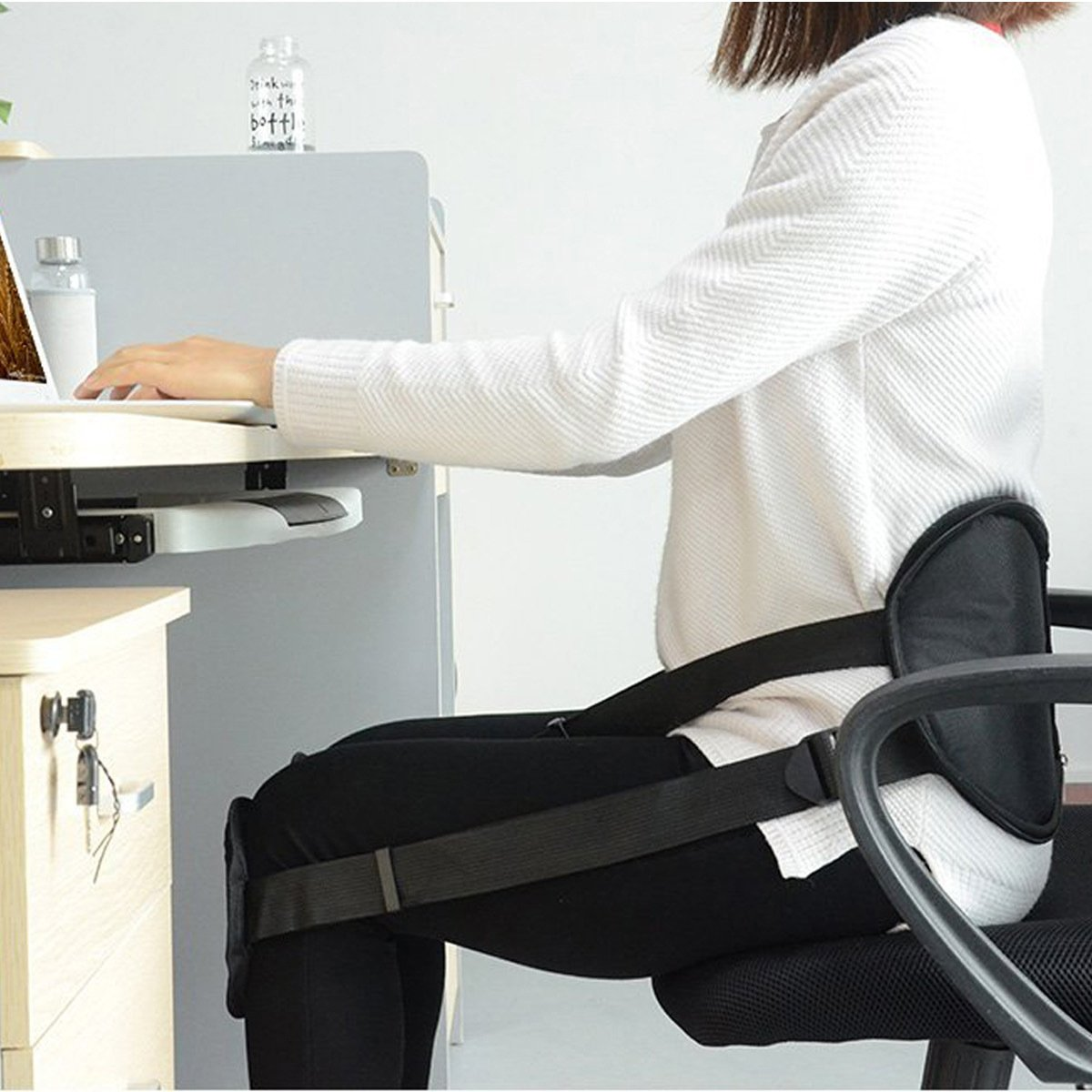 Ueasy Adjustable Back Posture Corrector Brace Clavicle Brace Portable Correct Back Posture for Correction Posture Enhance Temperament by Ueasy (Image #3)