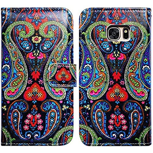 Bfun Packing Bcov Paisley Pattern Card Slot Wallet Leather Cover Case For Samsung Galaxy S7 Sales