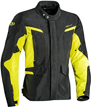 Chaqueta Ixon Summit 2 negro - amarillo vivo Fluo impermeable moto Adventure tela L NERO - GIALLO VIVO: Amazon.es: Coche y moto