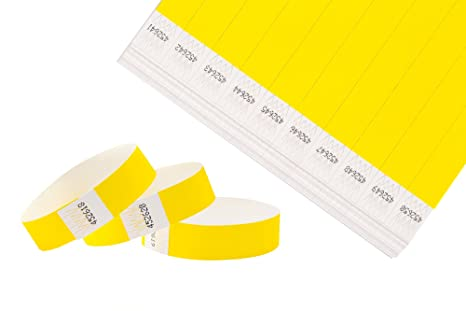 Cintapunto® - Tyvek Pulseras 1000 Pulseras De Papel 1000 Pulseras De Seguridad 1000 Tyvek Wristbands