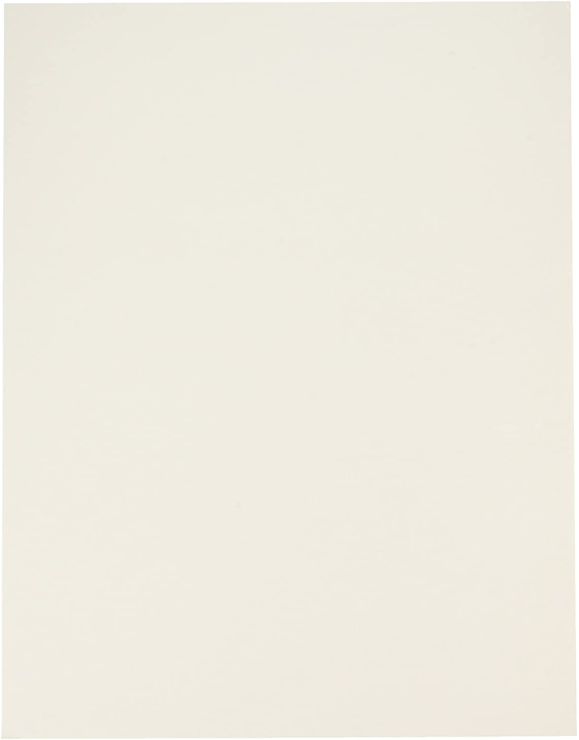 School Smart Poster Board, 11 x 14 Inches, White, Pack of 25 - 1371698