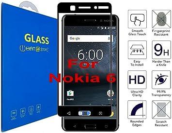 Nokia 6 - Curvo 3D Cristal Templado Protector de Pantalla, 3D ...