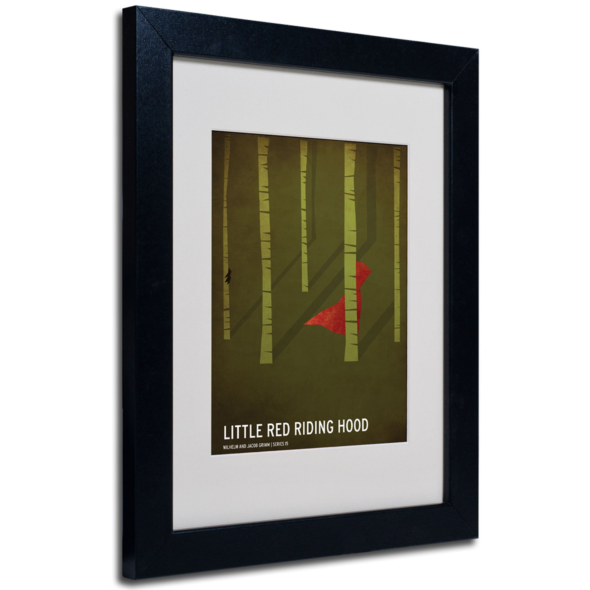 Red Riding Hood Artwork by Christian Jackson in Black Frame, 11 by 14-Inch