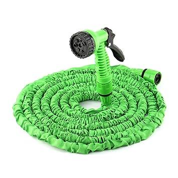Manguera extensible 15m / 50 pies   Manguera agua flexible para y riego jardín con pistola