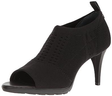 Calvin Klein Womens massey strecth knit Open Toe Classic Pumps Black Size 6.0