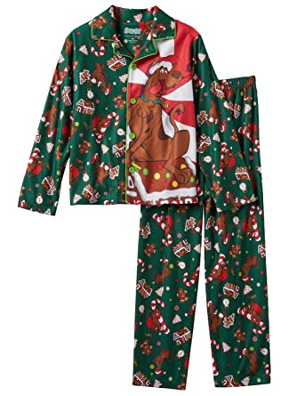12d5134ba2 Amazon.com  Little Boys Scooby Doo Christmas Holiday Flannel Pajamas ...