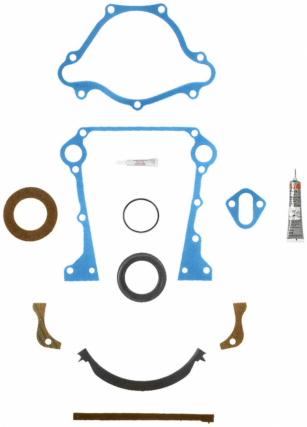 Fel-Pro TCS 45284 Timing Cover Gasket Set with Repair Sleeve