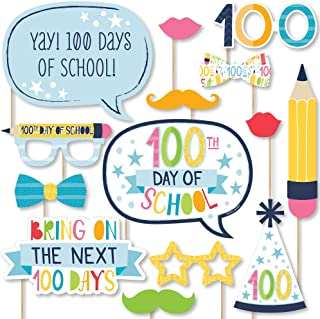 product image for Big Dot of Happiness Happy 100th Day of School - 100 Days Party Photo Booth Props Kit - 20 Count