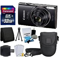 Canon PowerShot ELPH 360 HS Digital Camera (Black) + Transcend 32GB Memory Card + Camera Case + USB Card Reader + LCD Screen Protectors + Memory Card Wallet + Complete Accessory Bundle