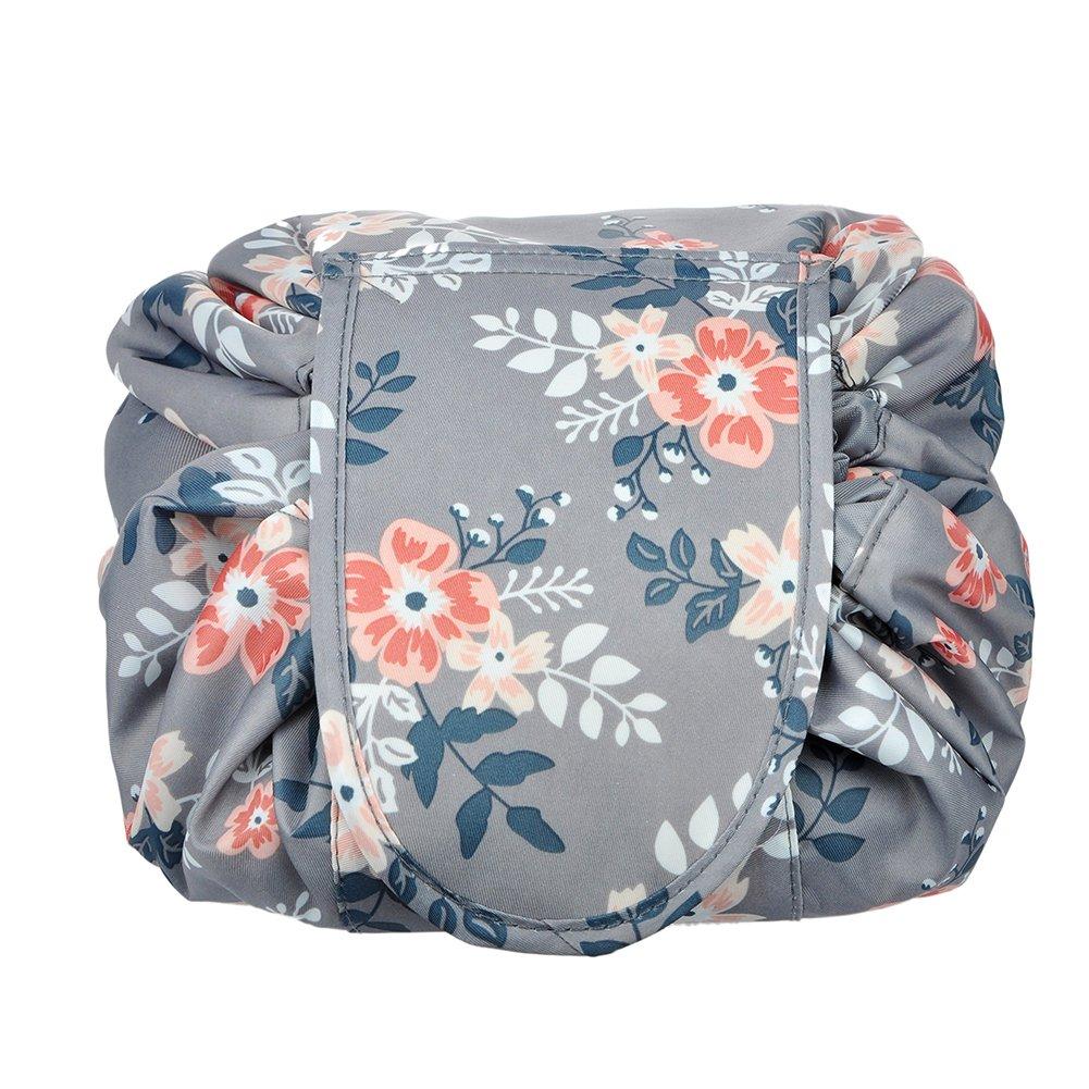 Trousse de toilette et de maquillage imperm/éable et portable avec fermeture /éclair et cordons de serrage Grand format