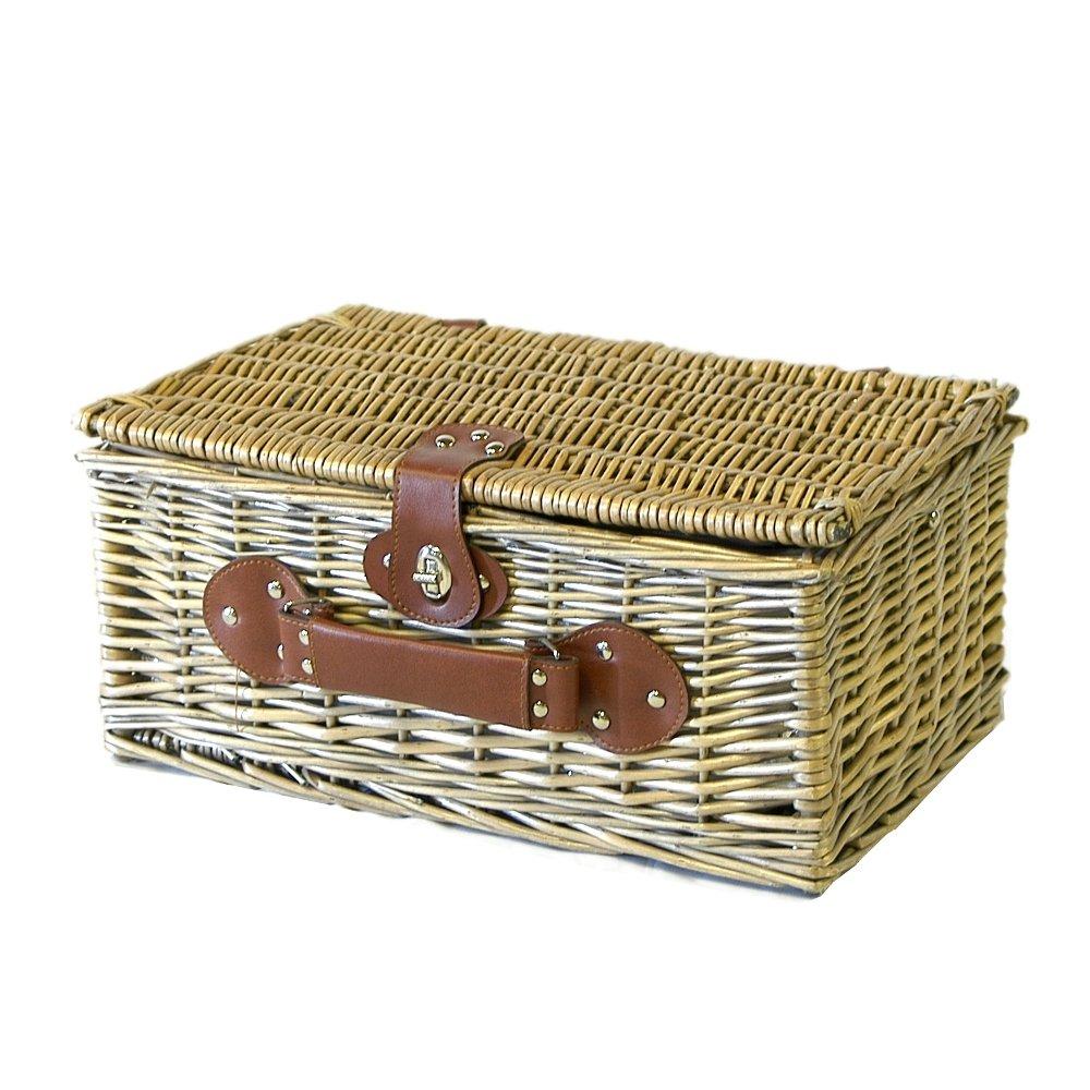 Jubil/äum Die Geschenk Idee Zur Hochzeit Geburtstag Weiden Picknickkorb Mit Moet Chandon Champagner Und Integrierter K/ühltasche
