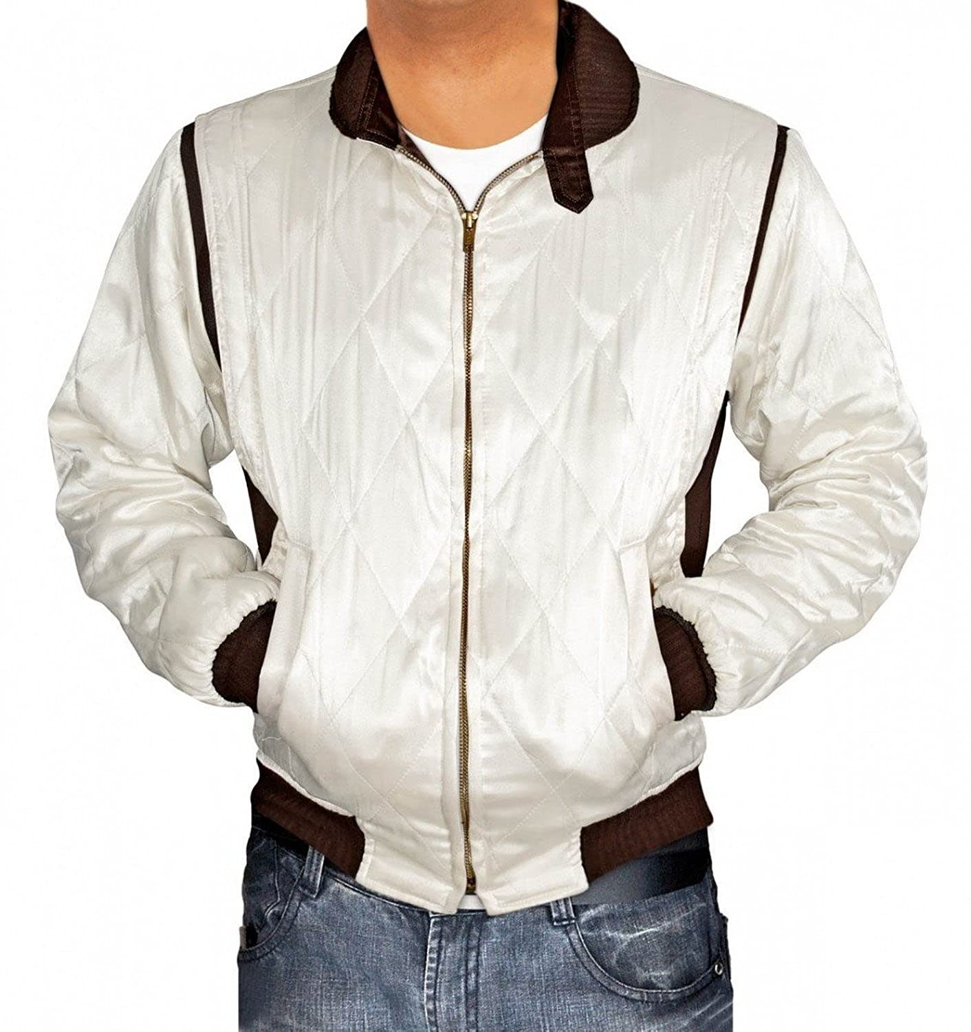 Leather jacket repair ottawa - Amazon Com Drive Jacket White Satin Mens Quilted Jacket Best Seller Clothing