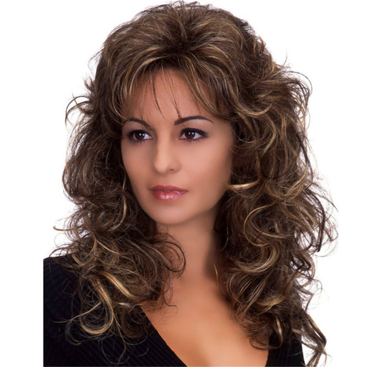 """YX 65CM 26"""" Long Fluffy Curly Natural Wigs for Women Synthetic Wig"""