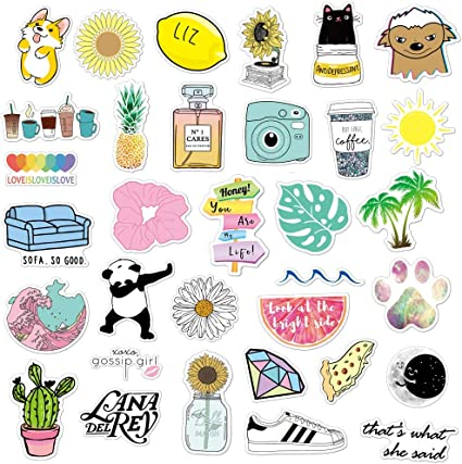Anerza Vsco Stickers For Hydro Flask Vinyl Waterproof Water Bottle Stickers For Hydroflasks Laptop Phone Cute Trendy Aesthetic Stickers For Teens