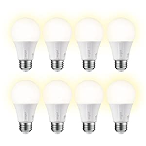 Sengled E11-G13 Smart LED Soft White A19 Bulb Hub Required, 2700K 60W Equivalent 8 Pack