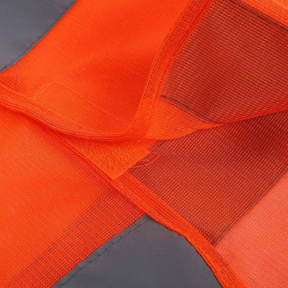 Gilet R/éfl/échissant Haute Visibilit/é V/êtements Trafic Haute S/écurit/é Voiture Veste S/écurit/é Visibilit/é Moto R/éflectif Gilet pour Voitures XL Orange