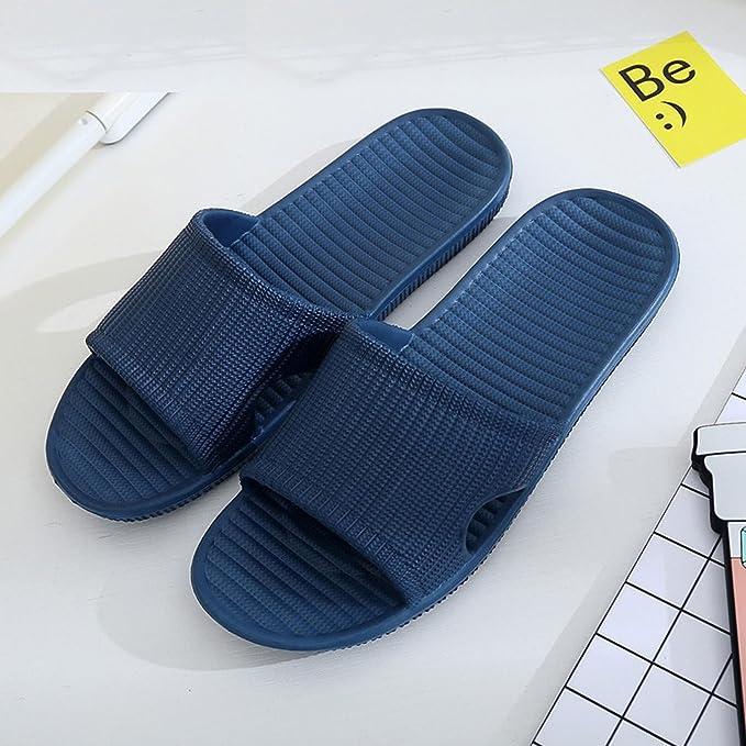 Marlong 2018 New Summer Men Flip Flops Women Male Stripe Flat Bath Slippers