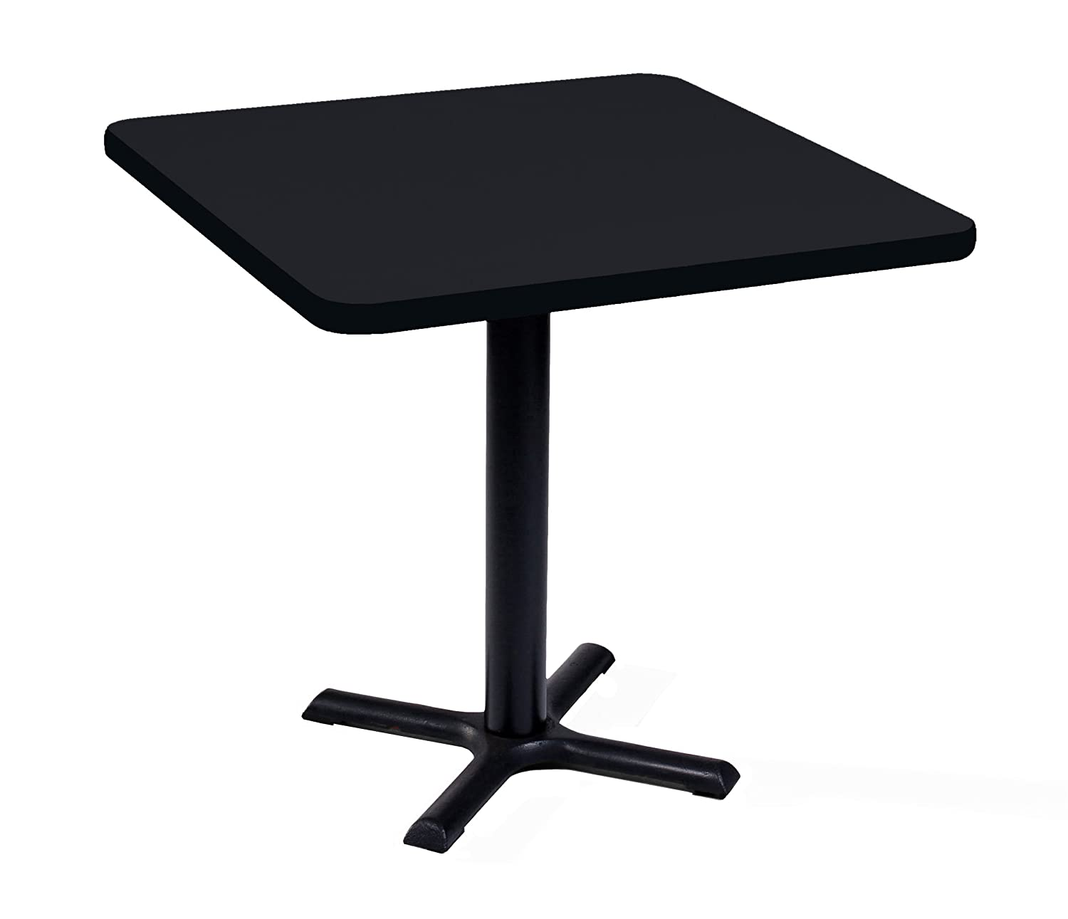 Correll BXT30S-07 Black Granite Top and Black Base Square Bar, Caf and Break Room Table, 30