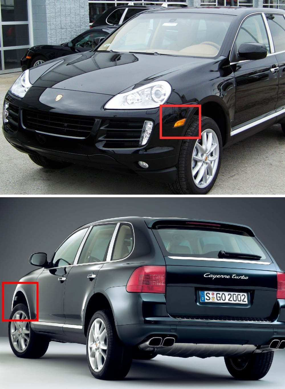Amazon.com: Porsche Cayenne Led Daytime Running Light - NSLUMO E-Mark Approved Amber LED Side Marker+Turn Signal Lamp for 07-10 Porsche Cayenne 957 Led drl ...