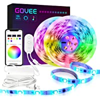 Govee DreamColor 32.8-Ft. LED Strip Lights with Alexa, Google Assistant, Android iOS (Not Support 5G WiFi)