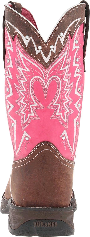 Durango Lady Rebel 10 Inch Pull-On RD3557 Western Boot B008JEI3C6 7 M US Dark Brown/Pink