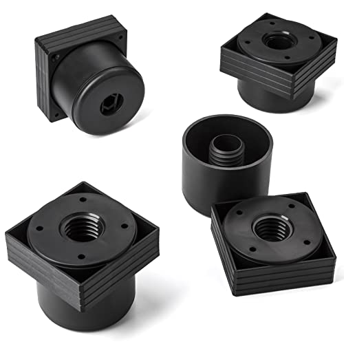 Set de 4 x SO-TECH/® Pata de MuebleJIM ACERO FINO /Ø 50 mm Alto 120 mm Capacidad de Carga muy Alta