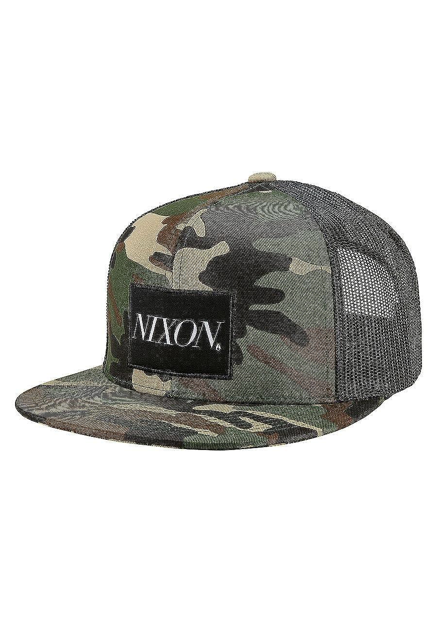 e9909cc6 Amazon.com: Nixon King Trucker Snapback Hat Woodland Camo: Clothing