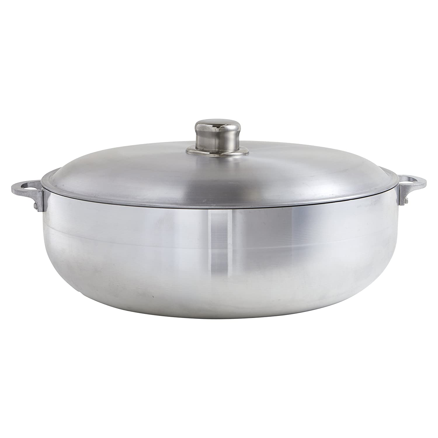 IMUSA USA R200-CALDERO 32 Traditional Caldero with Lid 7.5-Quart, Silver