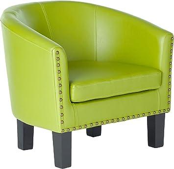 Amazon Com Rosevera Duilio Barrel Chair Green Furniture Decor