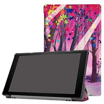 size 40 7952f d9387 Fire 10 Tablet Case,Kindle Fire 10 Cases and Covers 2017 Release,Folding  Stand Cover for All-New Amazon Fire HD 10 Tablet 2017