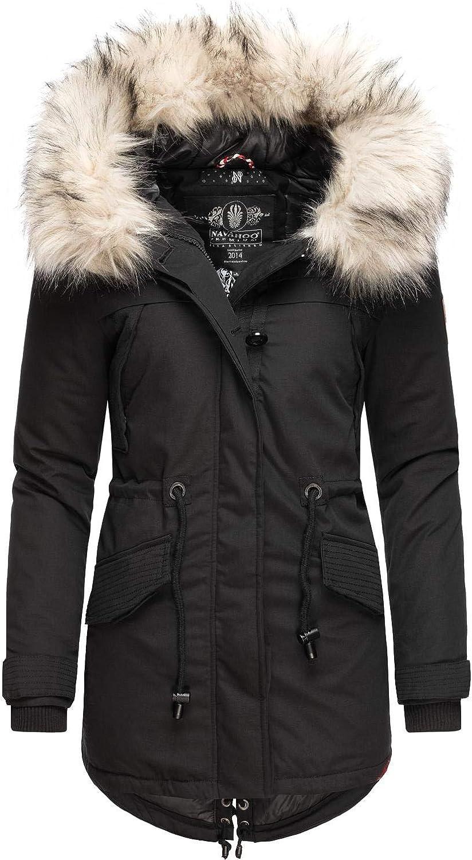 6 colori XS XXL Cappotto invernale da donna con pelliccia sintetica rimovibile Lady Like Navahoo