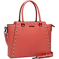 Laptop Bag,Laptop Tote Bag for Women,Padded Work Tote Bag Laptop Briefcase (F-15.6inch-Living Coral)