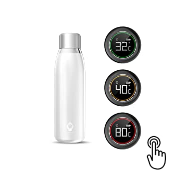 YAYZA! Botella Termo en Acero Inoxidable Aislada Con Doble Pared Térmico Smart Cup G3 con Pantalla ...