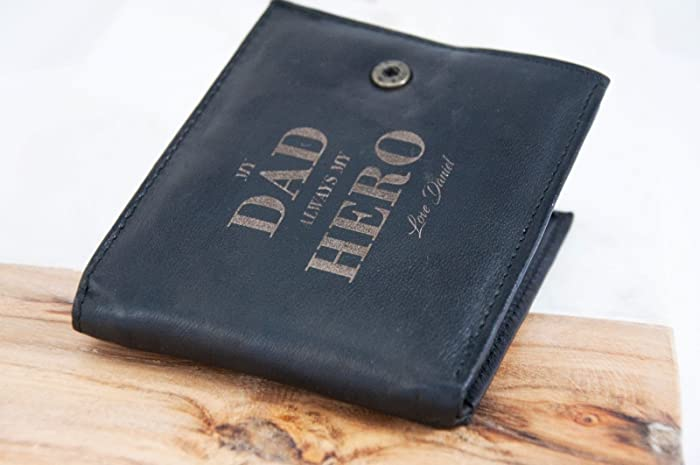 Men's Accessories Mens Black Or Brown Leather Wallet Credit Card Holder Personalised Father Dad Uk Wallets