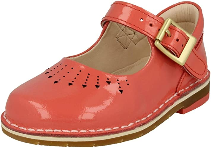gatito Ajustable Muscular  Clarks Girls Casual Shoes Yarn Jump - Coral Patent - UK Size 5H - EU Size  21 - US Size 5.5XW: Amazon.co.uk: Shoes & Bags