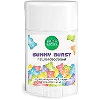 Fresh Monster Natural Deodorant for Kids and Teens | Aluminum Free, Paraben Free, Hypoallergenic | Gummy Burst Scent (1…